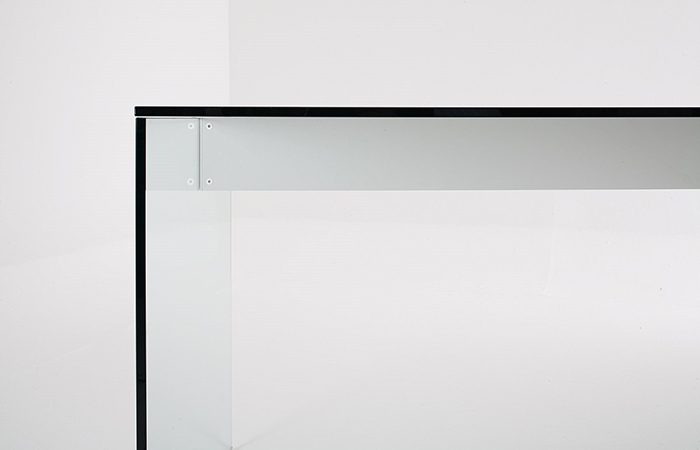 bureau air desk 200 90 cm verre extralight 10surdix