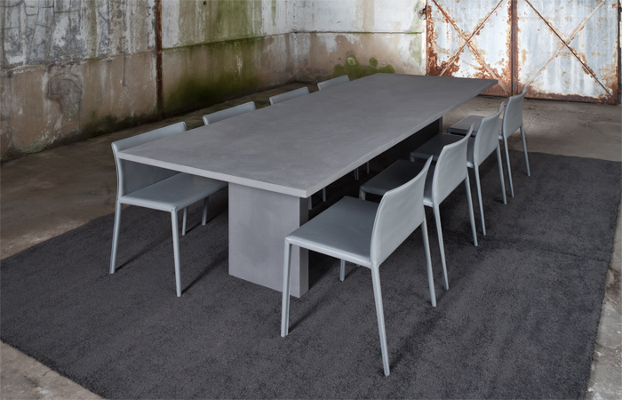10Surdix] | Table Assagio – 240/110 Cm – Béton Graphite | [10Surdix]