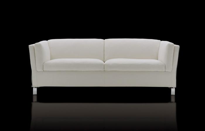 10surdix canap convertible benny 203 cm tissu blanc cass 10surdix. Black Bedroom Furniture Sets. Home Design Ideas