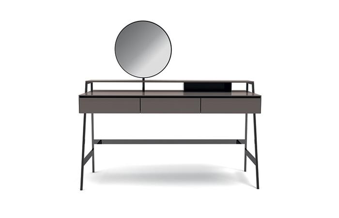 10surdix bureau venere 120 cm verre brillant sand 10surdix. Black Bedroom Furniture Sets. Home Design Ideas