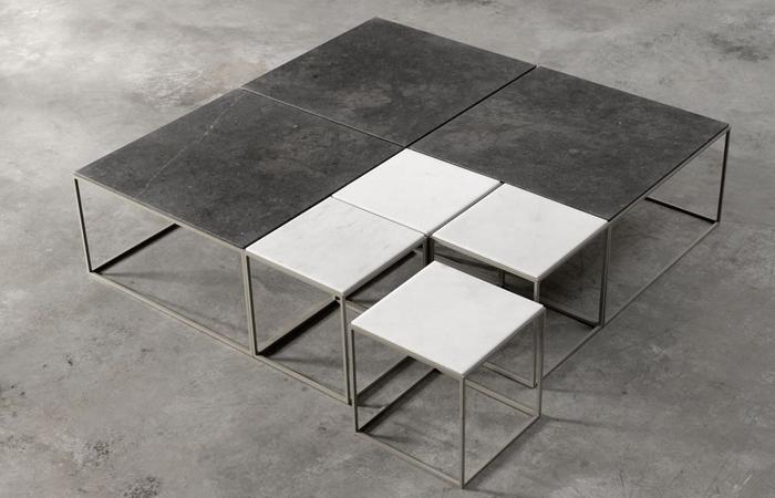 10surdix] | Table basse Vital – 140/140 cm – Pierre | [10surdix]