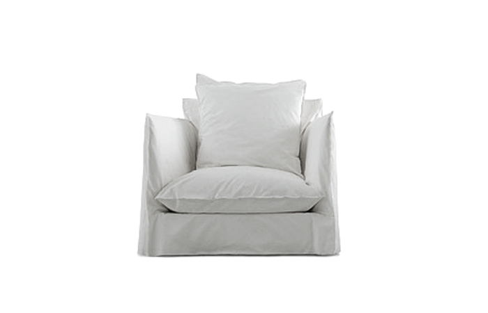 10surdix fauteuil ghost 01 90cm tissu blanc cat b 10surdix. Black Bedroom Furniture Sets. Home Design Ideas