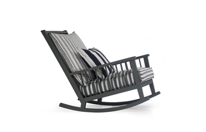 10surdix fauteuil bascule gray 09 coussins blancs 10surdix - Fauteuil a bascule blanc ...