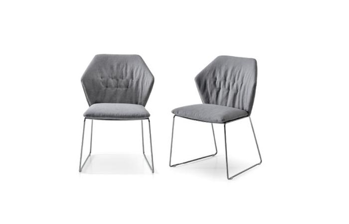 10surdix chaise new york sans accoudoirs tissu for Chaise york