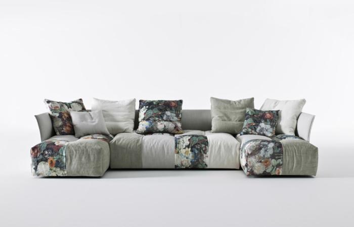 10surdix canap pixel 346 cm m ridienne tissu blanc 10surdix. Black Bedroom Furniture Sets. Home Design Ideas