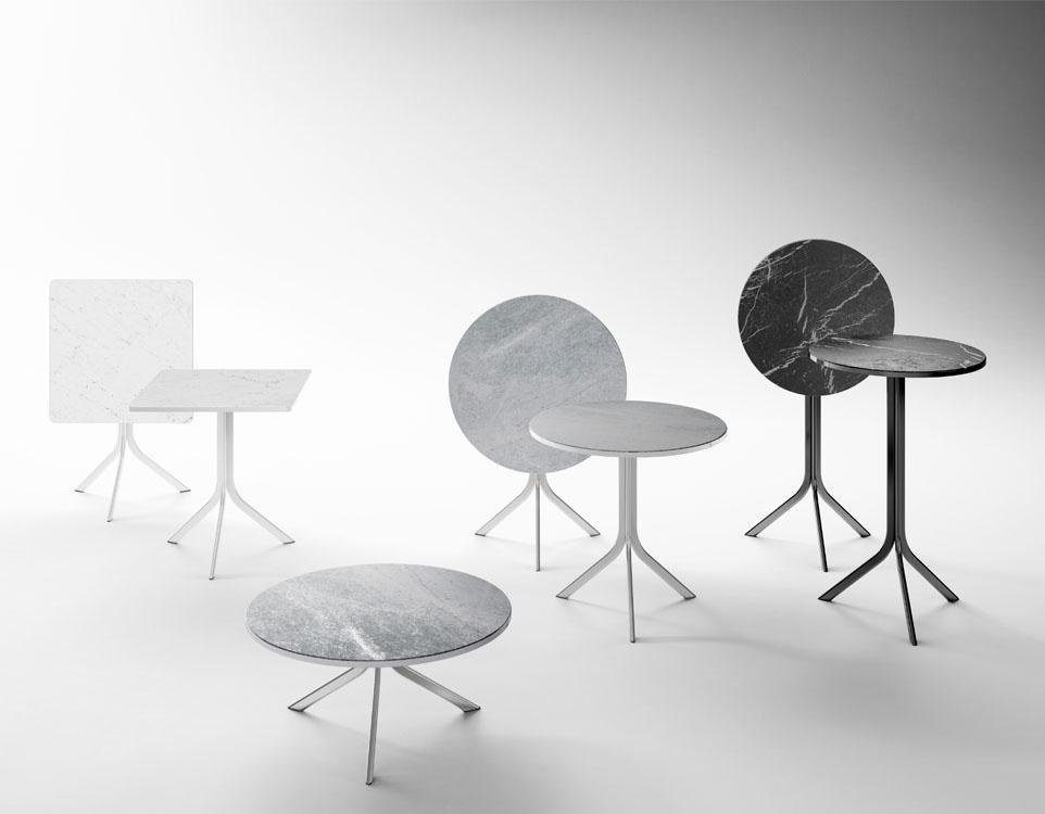 10surdix Table Bistro 80 Cm Diam Marbre De Carrare 10surdix