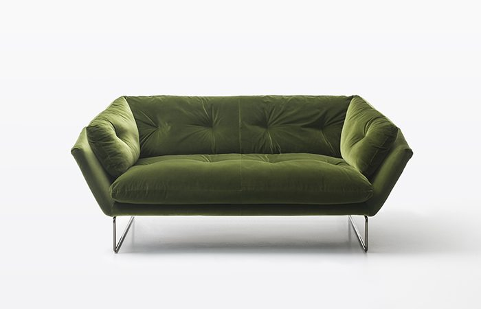 Canap new york suite 190 cm l velour vert 10surdix - Suite cm ...