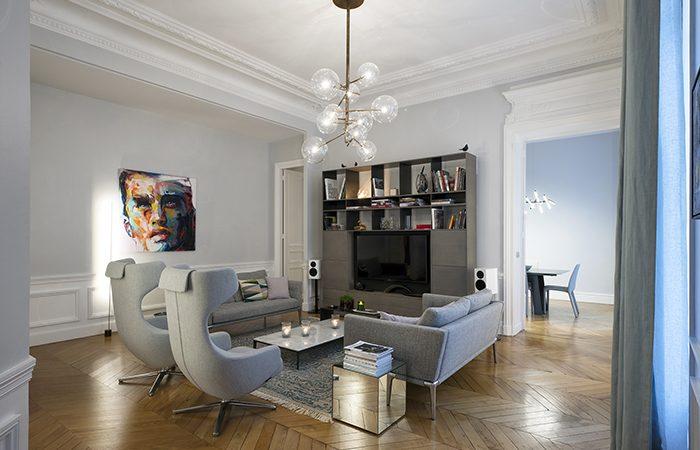 Appartement paris meissonnier 10surdix for Appartement paris design