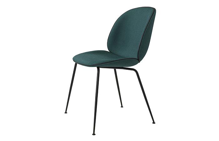 10surdix chaise beetle noir tissu cat 1 vert - Chaise tissu noir ...