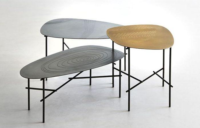 Table basse syro 30 80 cm l acier d labr 10surdix - Table basse 80 cm ...