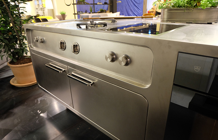 10surdix cuisine ego acier inox ilot central sur - Cuisine inox sur mesure ...