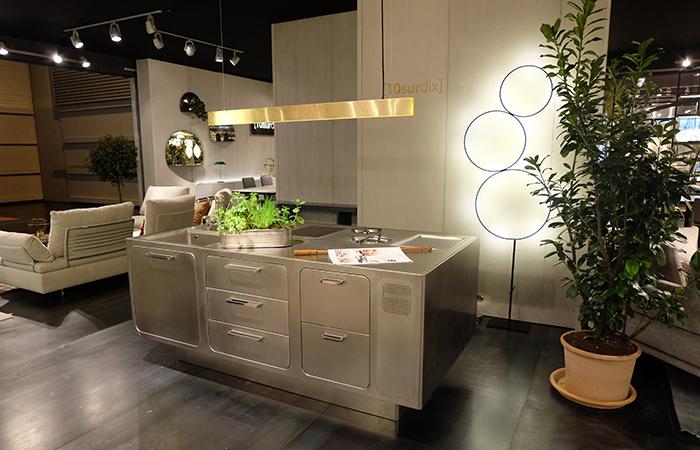 10surdix cuisine ego acier inox ilot central sur. Black Bedroom Furniture Sets. Home Design Ideas