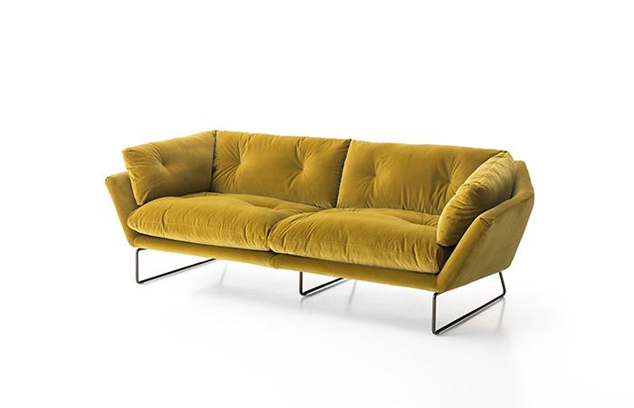 10surdix canap new york suite 230 cm l velours jaune 10surdix - Suite cm ...