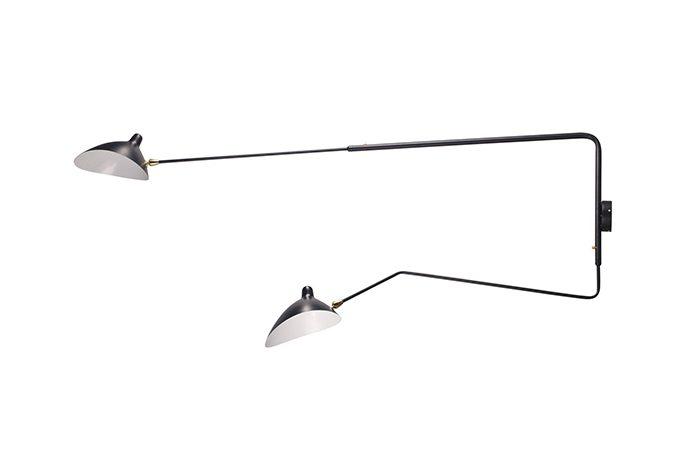 applique serge mouille 2 bras droits pivotants dont 1 courbe 10surdix. Black Bedroom Furniture Sets. Home Design Ideas