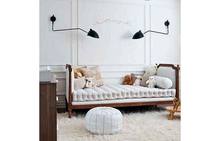 applique serge mouille 1 bras courbe pivotant 10surdix. Black Bedroom Furniture Sets. Home Design Ideas