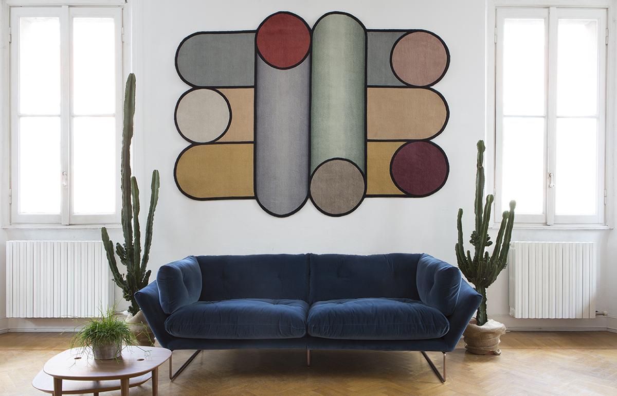 10surdix tiquette canap velours bleu 10surdix. Black Bedroom Furniture Sets. Home Design Ideas
