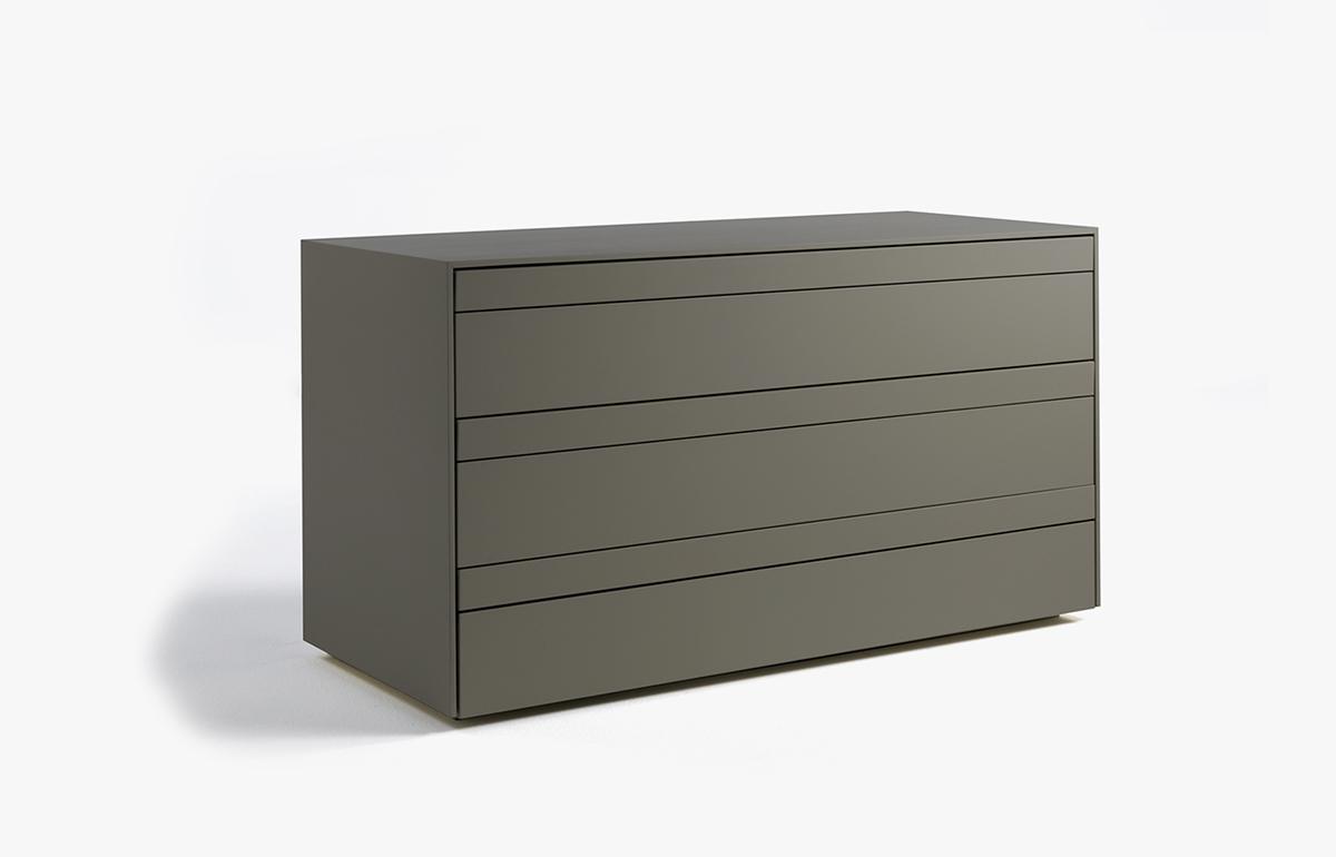 10surdix] | Commode Shen – 127 L cm – Laqué gris anthracite | [10surdix]