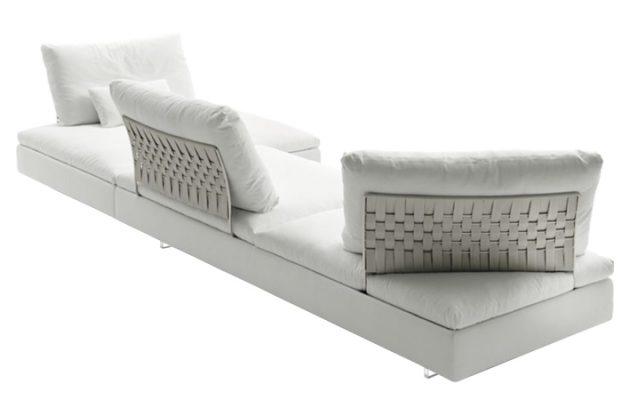 canap d angle limes 342 cm tissu blanc 10surdix. Black Bedroom Furniture Sets. Home Design Ideas