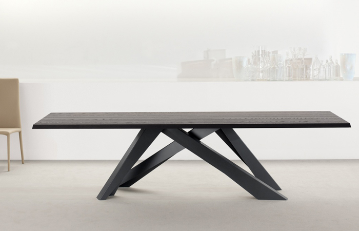 10surdix Table Big 200100 Cm Plateau Bois