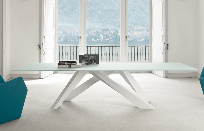 10surdix table big table extensible 200100 cm plateau verre 10surdix - Table Plateau En Verre