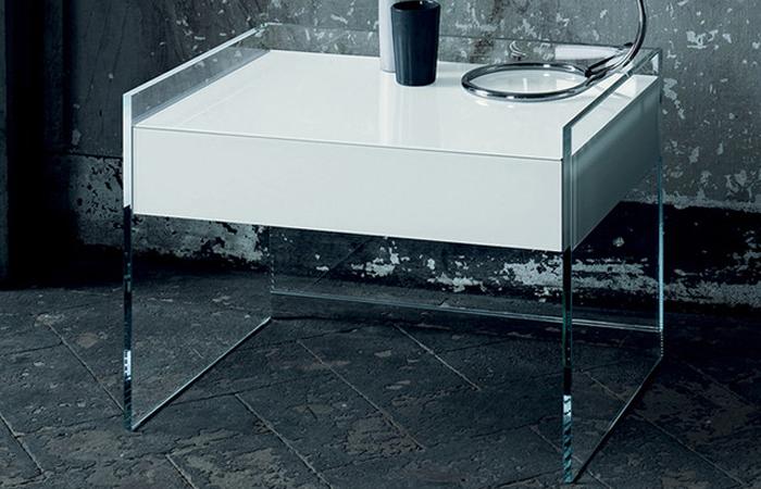 10surdix] | chevet float – 50 cm – verre trempé transparent
