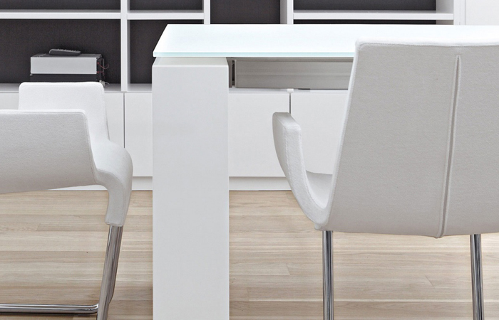 10surdix table twice extensible 165 235 90 cm for Table extensible verre blanc