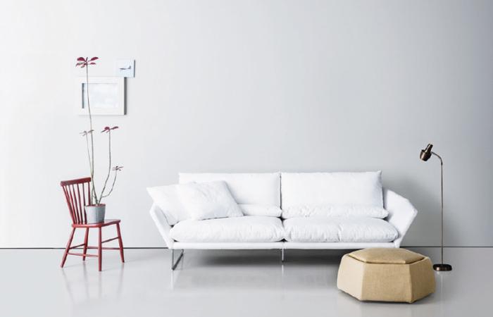 Canape New York 200 Cm L Tissu Blanc 10surdix