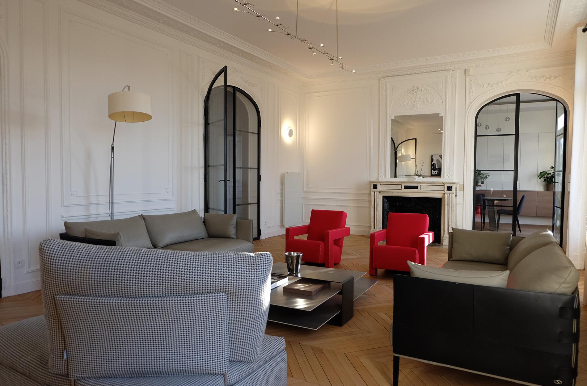 appartement paris 75016 10surdix. Black Bedroom Furniture Sets. Home Design Ideas
