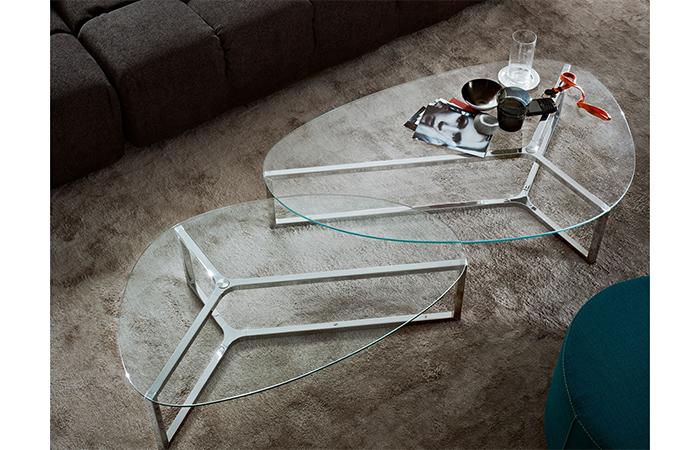 10surdix table basse raj 3 86 56 cm inox brillant verre 10surdix. Black Bedroom Furniture Sets. Home Design Ideas
