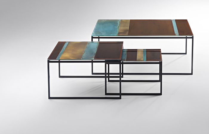 Terramarre Laiton Table 68 Cm L Cuivre Basse Corten 08mNnw