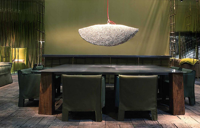suspension bell 90 cm diam cloches indiennes 10surdix. Black Bedroom Furniture Sets. Home Design Ideas