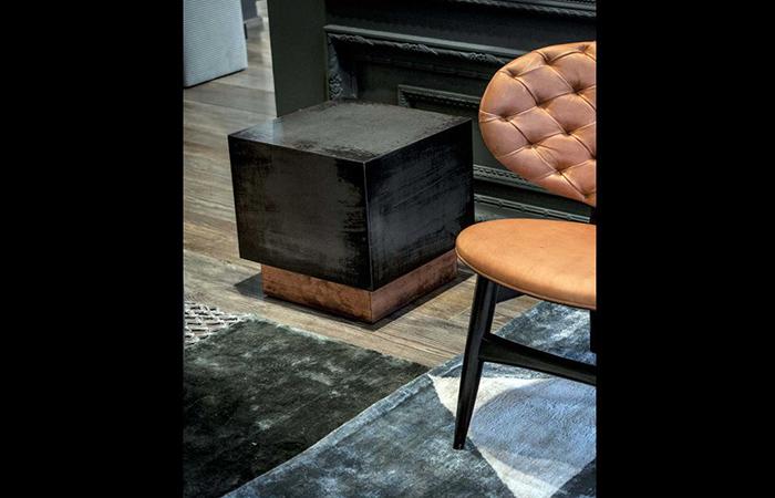 10surdix table basse loren 42 42 cm fer cuivre 10surdix. Black Bedroom Furniture Sets. Home Design Ideas