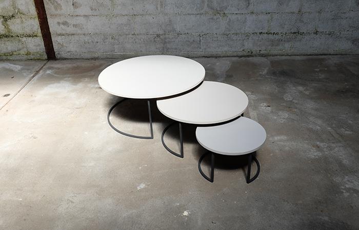 Tables Basses Gigognes Cosmos 85 Cm Beton 10surdix