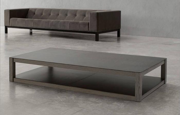 Table Basse Vital 120 80 Cm Bois Metal