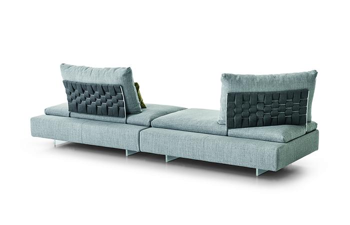 canap limes 270 cm tissu gris 10surdix. Black Bedroom Furniture Sets. Home Design Ideas