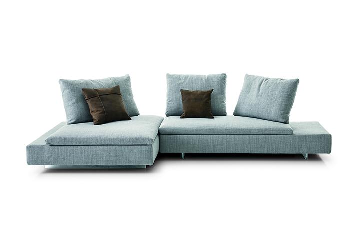 canap limes 322 cm tissu gris 10surdix. Black Bedroom Furniture Sets. Home Design Ideas
