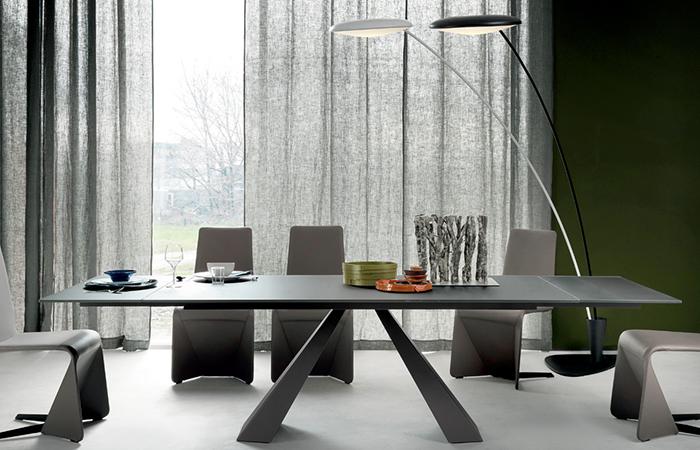 table eliot drive 236 90 cm verre graphite 10surdix. Black Bedroom Furniture Sets. Home Design Ideas