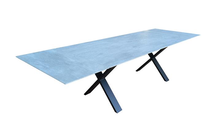 10surdix table cross extensible 240 120 cm for Table extensible 120 240 cm allonge integree