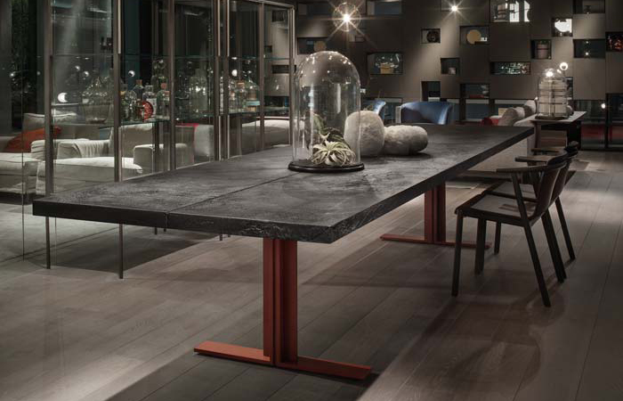 table pierre de lave free table en lave maille with table pierre de lave latest les tables en. Black Bedroom Furniture Sets. Home Design Ideas
