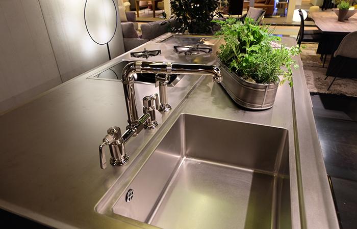 10surdix cuisine ego acier inox ilot central sur mesure 10surdix. Black Bedroom Furniture Sets. Home Design Ideas