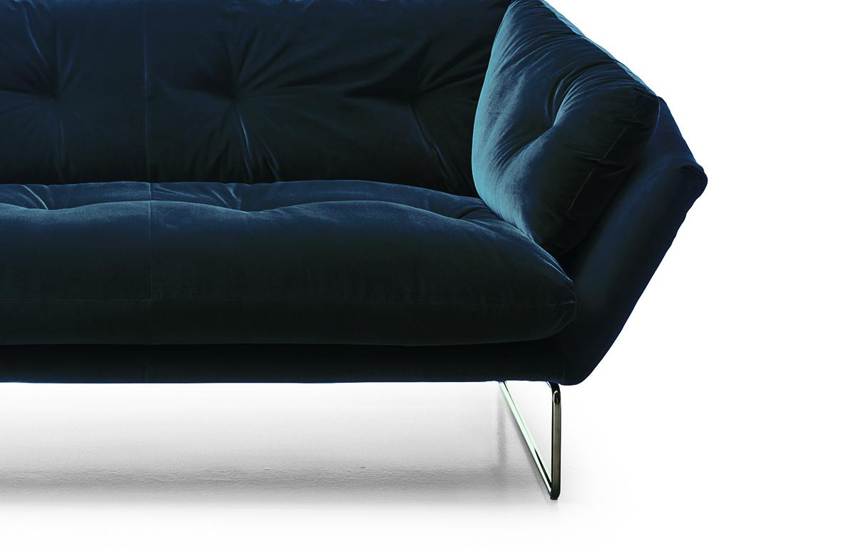 10surdix Canape New York Suite 230 Cm L Velours Bleu 10surdix