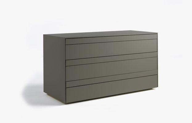 commode shen 127 l cm laqu gris anthracite 10surdix. Black Bedroom Furniture Sets. Home Design Ideas