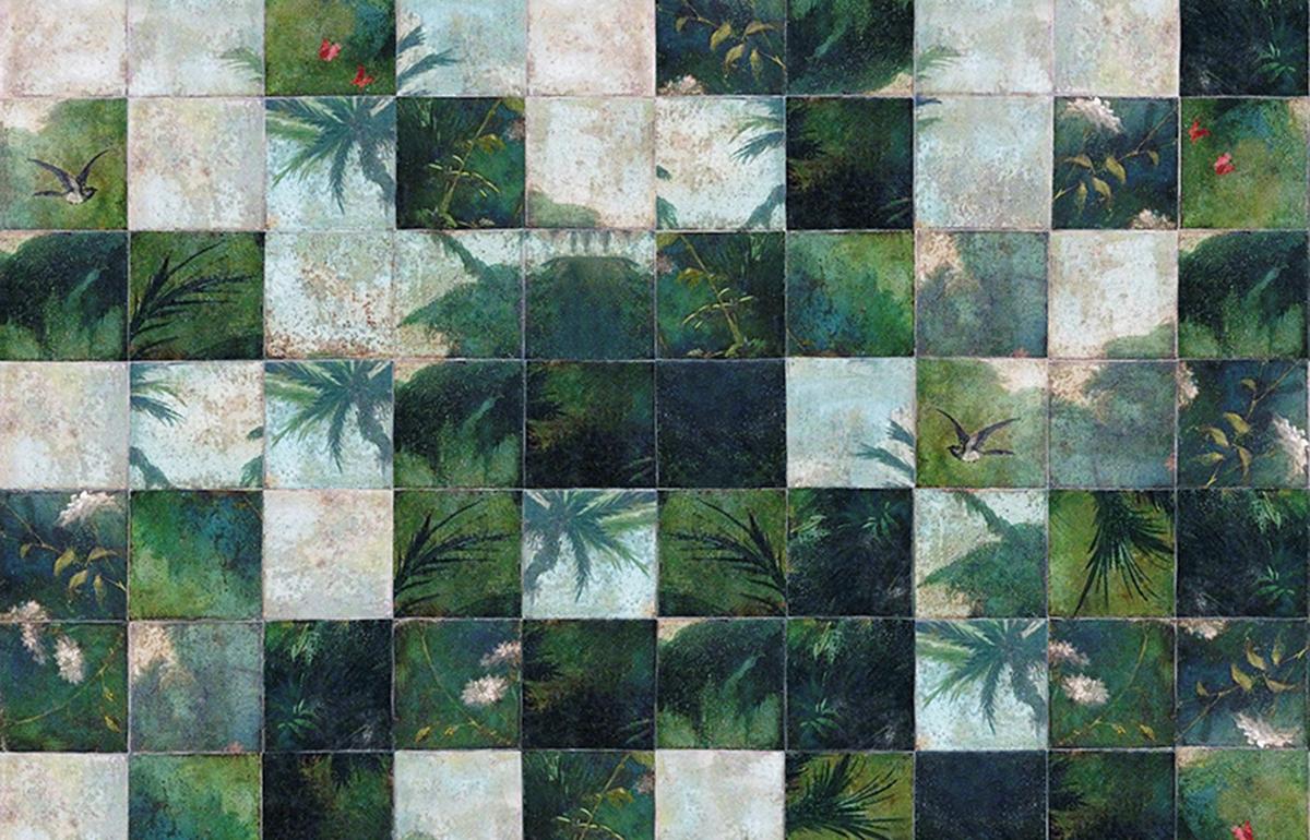 10surdix] | Papier peint Wall & Déco – Exotic Damier | [10surdix]