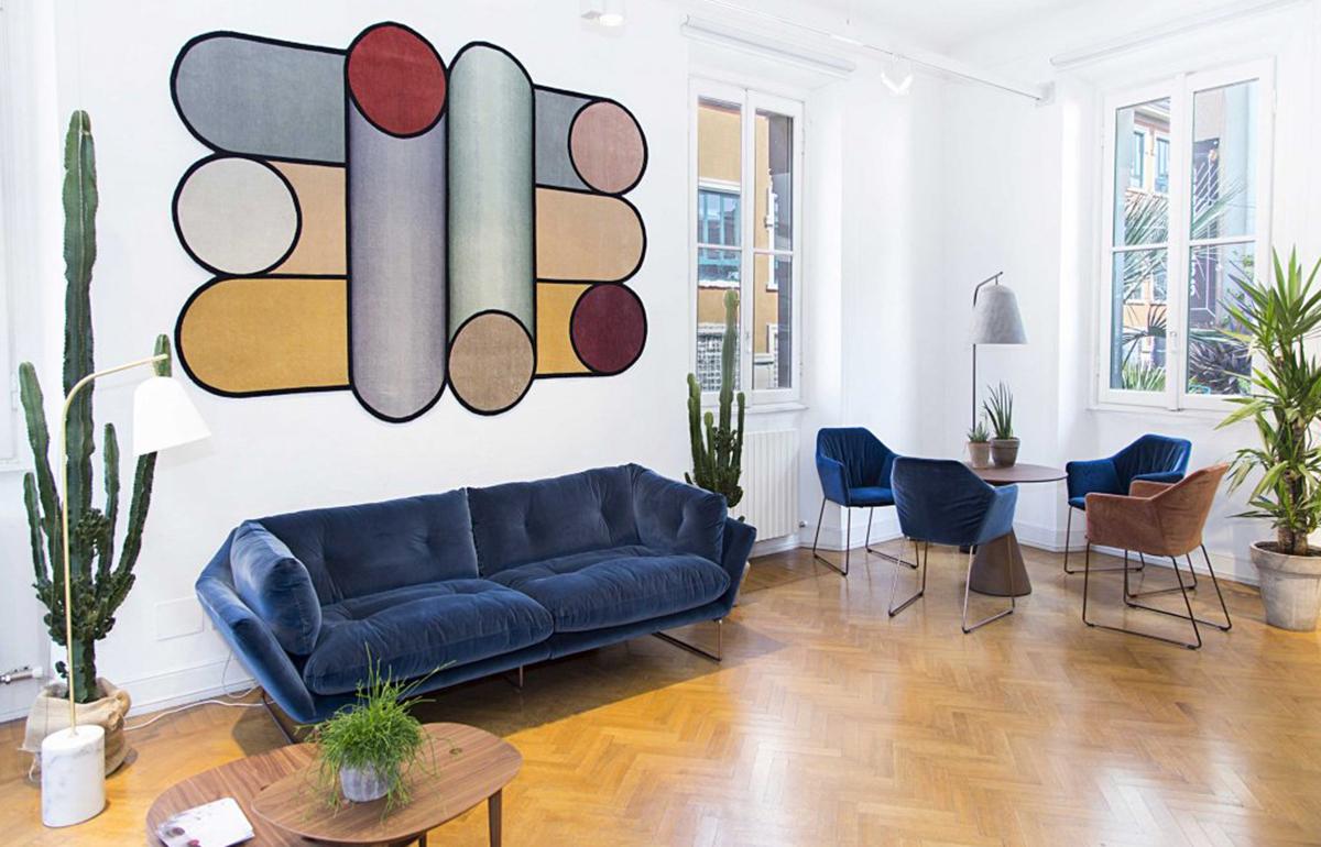 Canape New York Suite 230 Cm L Velours Bleu 10surdix