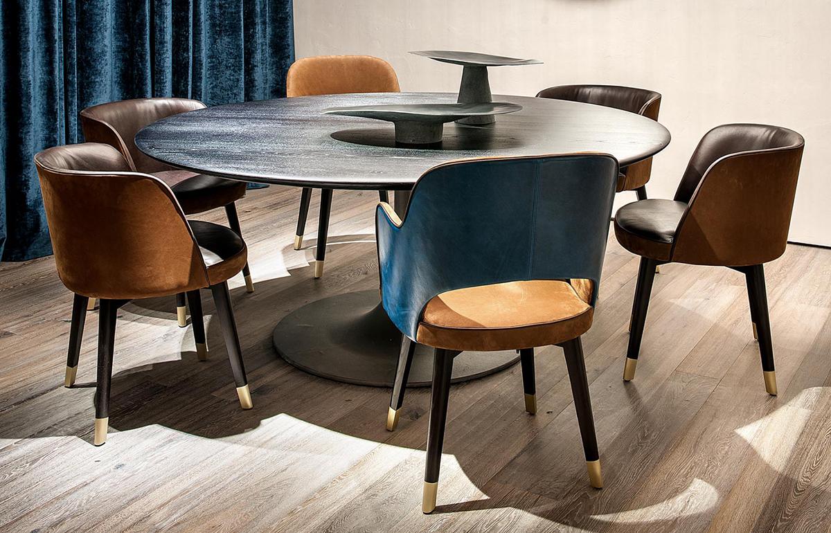 10surdix chaise haute colette accoudoirs kashmir cognac tuscany follonica 10surdix. Black Bedroom Furniture Sets. Home Design Ideas