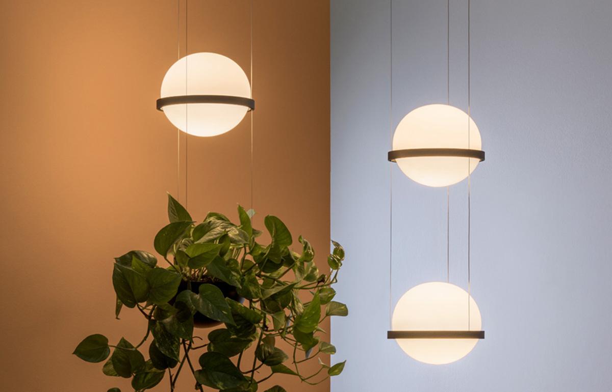 10surdix suspension palma 3724 verre souffl aluminium graphite 10surdix. Black Bedroom Furniture Sets. Home Design Ideas