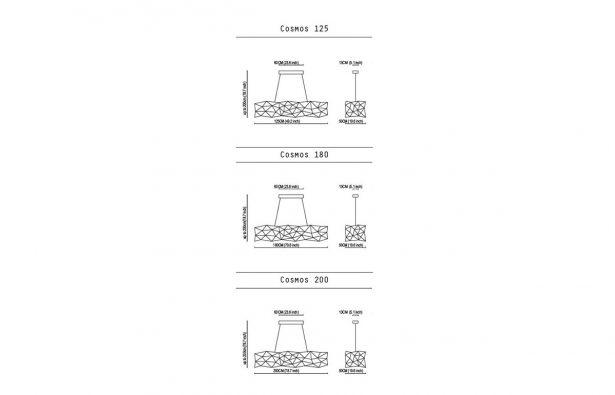 suspension cosmos 180 laiton 10surdix. Black Bedroom Furniture Sets. Home Design Ideas